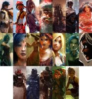 Characters by Pierrick