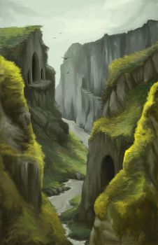 .Cliffside Temple. by Lii-chan