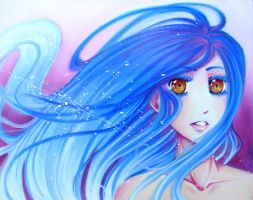 Girl with Blue Hair by Valen-LaRae