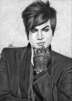 Adam Lambert Drawing AL by santabillie