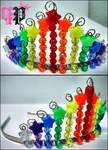 Rainbow Starbead Tiara by Lollipocalypse