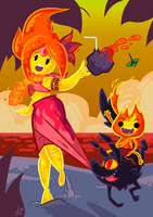 Summer in Fire Kingdom by TerminAitor