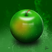 Perfect round apple by sweeti800