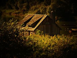 The old boathouse by Csipesz