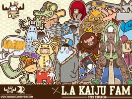 600 Watchers. THANK YOU. L.A Kaiju FAM Wallpaper by ExoesqueletoDV