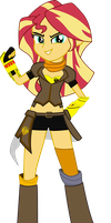 Sunset as Yang Xiao Long [RWBY] by sonofaskywalker