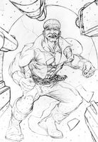 LUKE CAGE pencils by TimRees