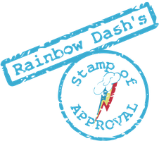 Rainbow Dash's Stamp of Approval SVG by tiwake