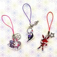 Keychains Mangle, Puppet and Foxy by I-Am-Bleu