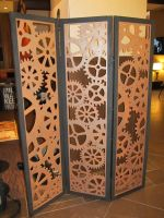 A Clockwork Room Divider by MercuryCrest