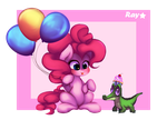 Pinkie Pie and Gummy by adventurepainter18
