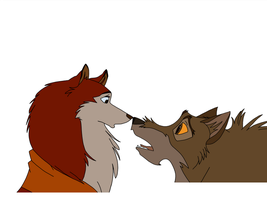 Balto and Jenna by iaintgotaclue