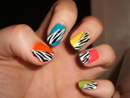 Rainbow Zebra by lettym