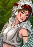 Princess Mononoke - San by Procsan