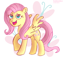 Fluttershy Redrawn by ScoBionicle99
