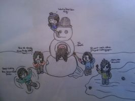 BVB's first snow fall by AngstyCami