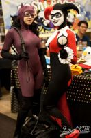 Harley and Catwoman: Bang Bang by Enasni-V