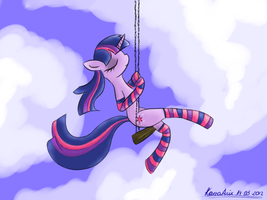 Twilight in socks by KairaAnix