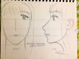 My Anastasyia Romanova (2P!Fem!Russia) Sketch-Out by Myindiansummer