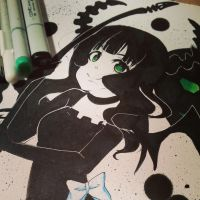 Dead Master (Black Rock Shooter Fanart) by NauticaWilliams