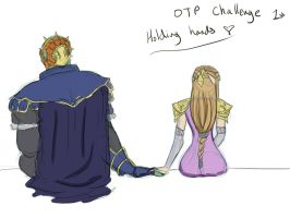 OTP Challenge - Zelgan holding hands by YammiJammi69