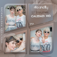 Photopack 0573 - Rita Ora And Lily Collins by WhateverPhotopackss