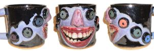 Eye Cup #41 With Demented Grin by aberrantceramics