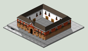 Casa Colorada PixelArt by MaximilianoMorgan