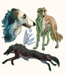 Borzoi Doodles by alridpath