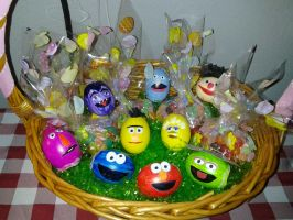 Sesame Street Easter Eggs by luzglez85