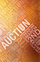 Art Auction Typographic Poster by Bazey