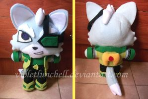 Wolf O'Donnell plushie by VioletLunchell