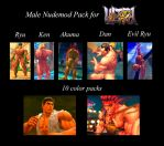 USF4 Male Nudemods by Segadordelinks