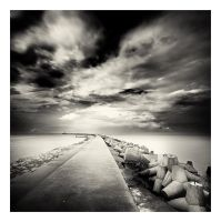 Road to lighthouse by anoxado