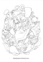 Wonderland lineart by Gunyuu