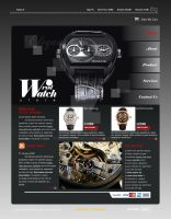 Wrist Watch Store Website by kn33cow