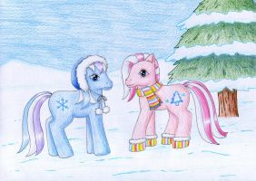 Snowflake and Mittens by NormaLeeInsane