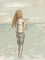 Ginny near the sea by some-some