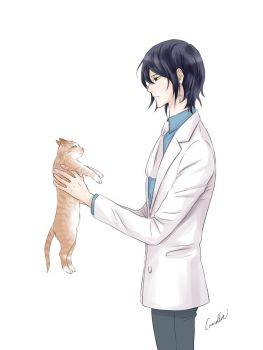 Noblesse: Rai with a cat by camellia029