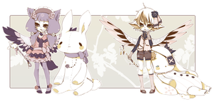 [CLOSED] ADOPT AUCTION 63 - Plushies Charmer by Piffi-adoptables