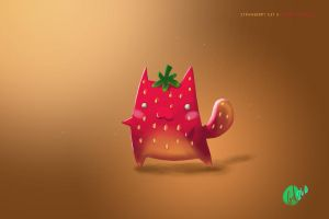 Strawberry Cat by Gel-Featherweight