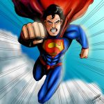 Superman (colored) by Jefra