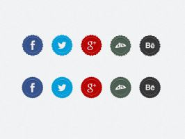 Social Media Badges by xara24