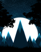 Blue Moon (small animation) by kaleidoscopial