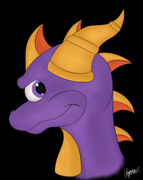 Spyro bust by Caramel-lioness