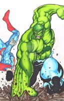 Hulk Smash(ing Superman) by sunny615