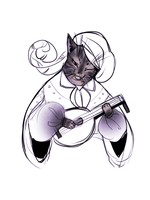 Minstrel cat by Drkav