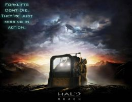 Halo Forklift by a-mime-in-a-box