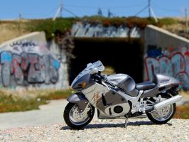 Graffiti tunnel Suzuki Busa by Partywave