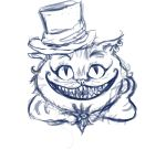Cat from Cheshire(sketch) by AlleyMartyrs